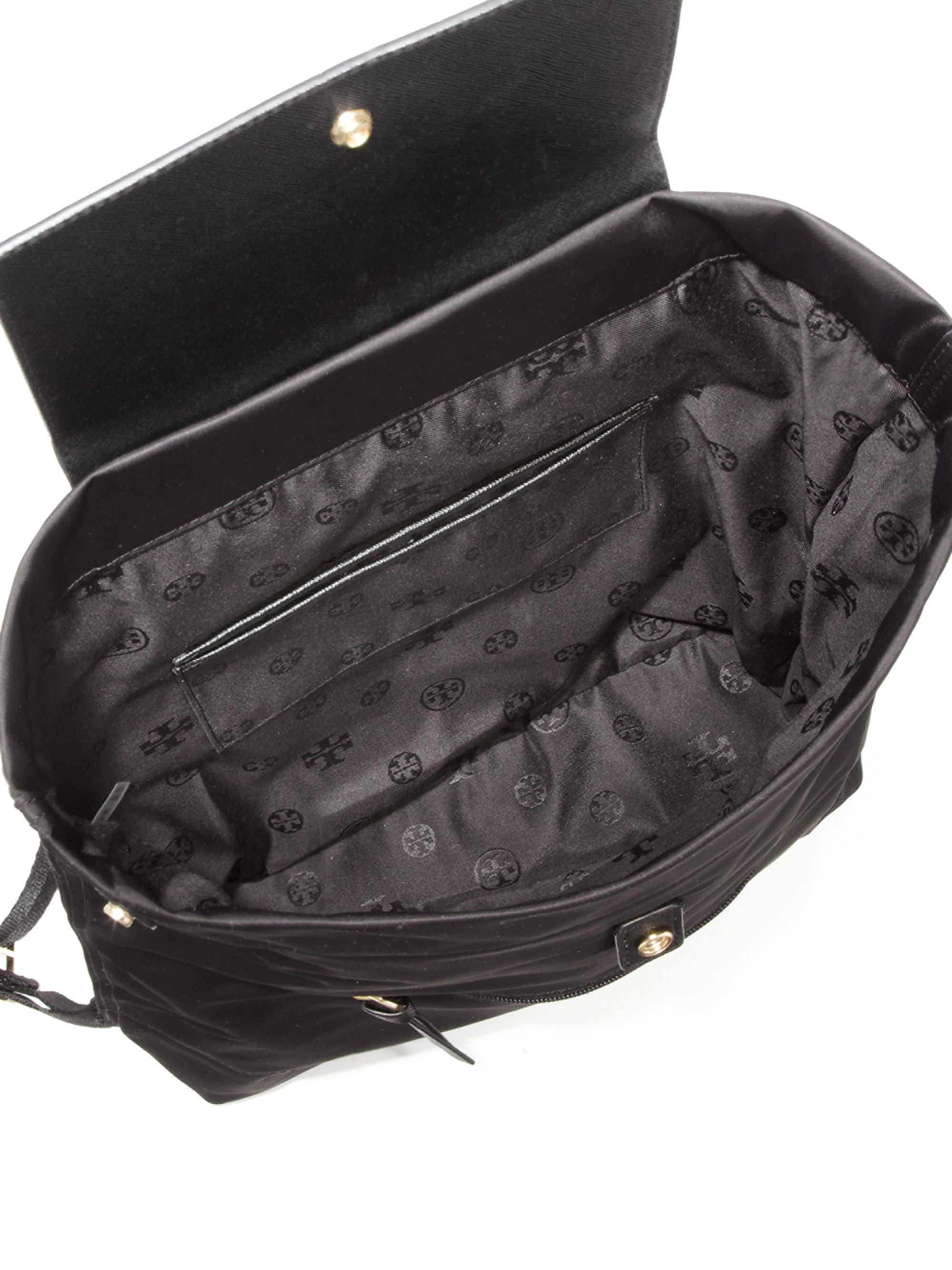 ea4c9e1fed3 Lyst - Tory Burch Ella Nylon Backpack in Black