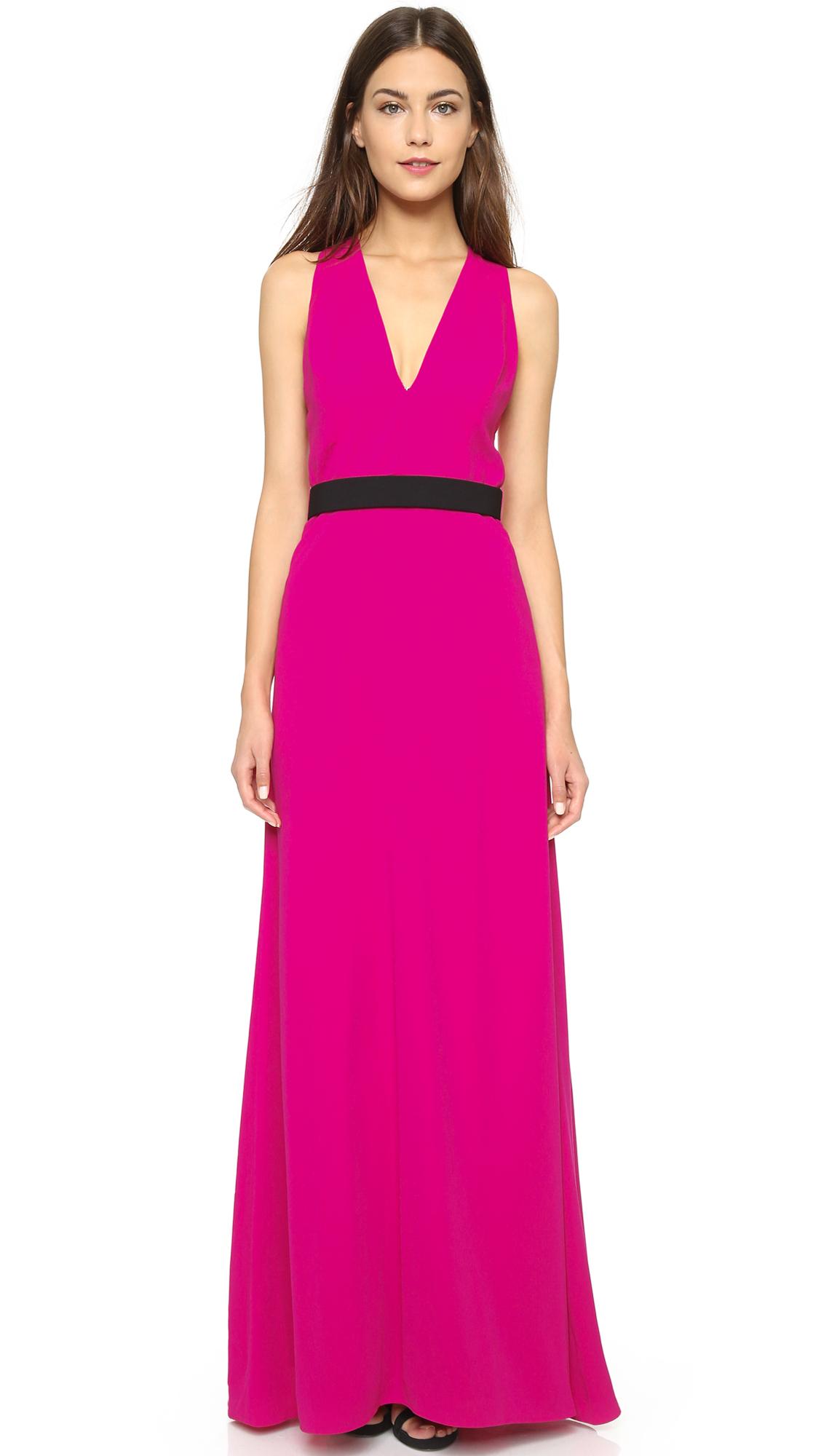 Jill Jill Stuart Open Back Gown In Pink Lyst