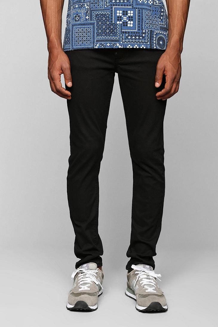 Cheap monday Tight Stretch Black Skinny Jean in Black for Men | Lyst