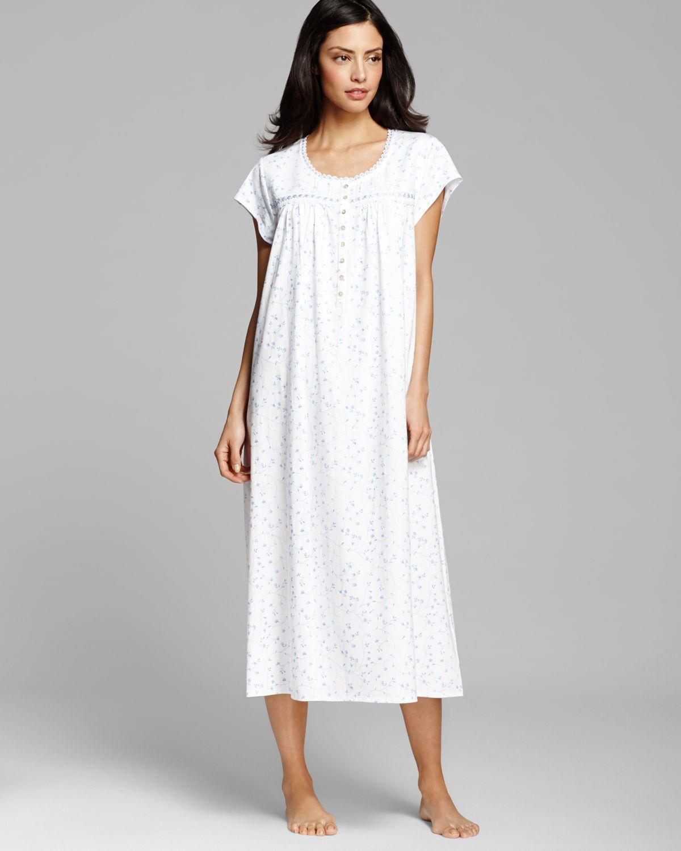 f798d791d6 Lyst - Eileen West Pima Cotton Light Jersey Long Ballet Gown in White