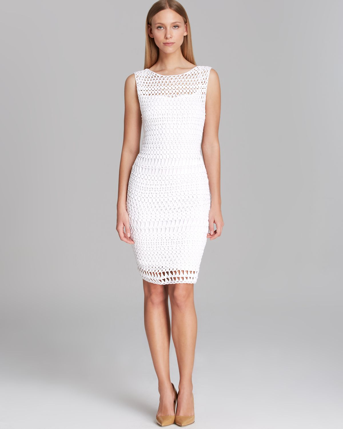 White dress crochet - Gallery Previously Sold At Bloomingdale S Women S Crochet Dresses