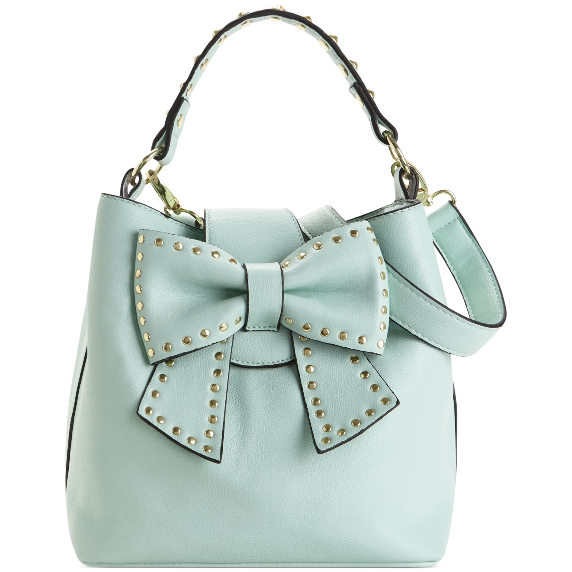 Betsey Johnson Hopeless Romantic Bucket Bag In Green Mint
