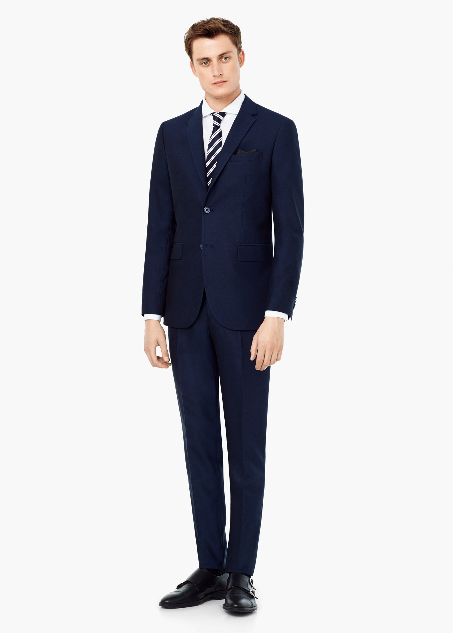 Mango Bird's Eye Suit Blazer in Blue for Men   Lyst