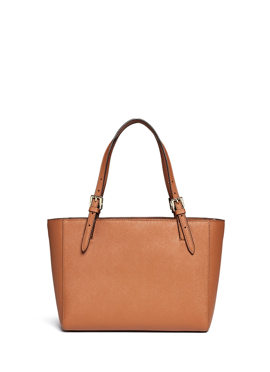 Tory Burch York Small Buckle Saffiano Leather Tote In