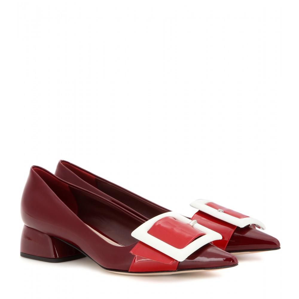 Red Patent Three-Buckle Sandals Miu Miu 7ijyF