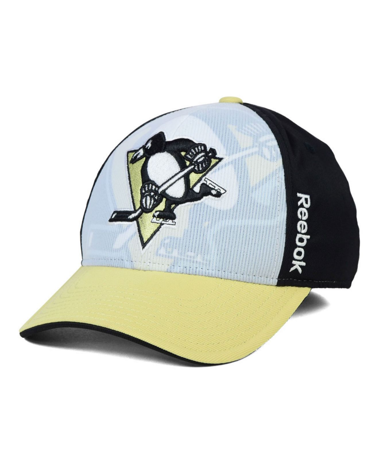 fda406e2b74 Lyst - Reebok Pittsburgh Penguins Stretch-Fit Cap in Yellow for Men