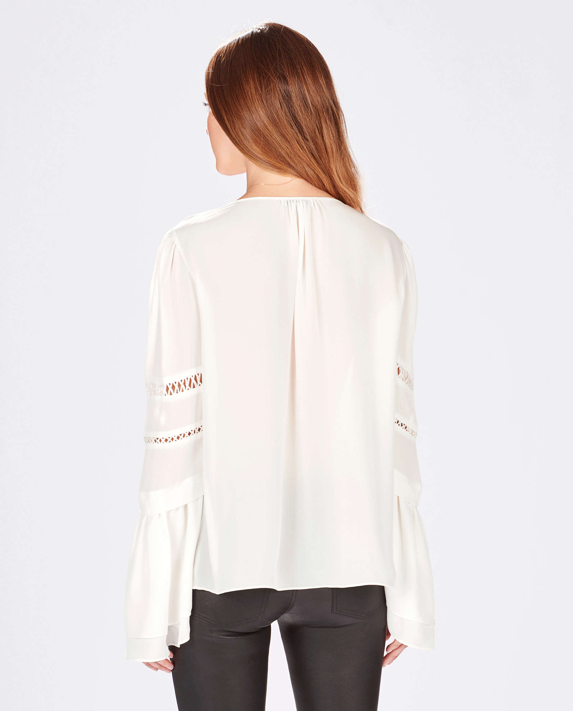 a695ad975adc Lyst - Parker Hadley Blouse in White
