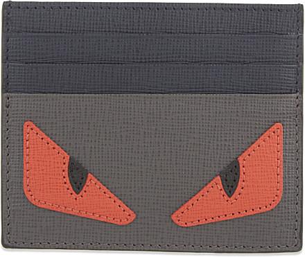 296277e670 Fendi Monster Card Holder - For Men in Gray for Men - Lyst