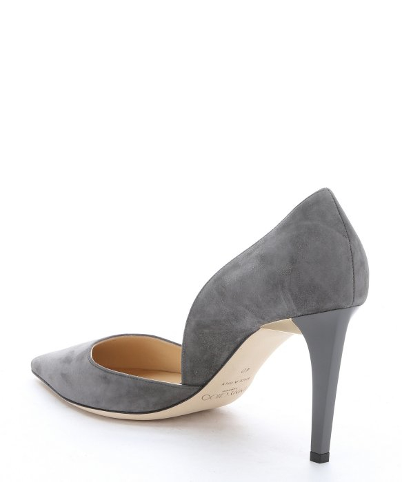 b4edda873 cheap lyst jimmy choo mist suede darylin 85 dorsay pumps in gray 49451 ddd8f
