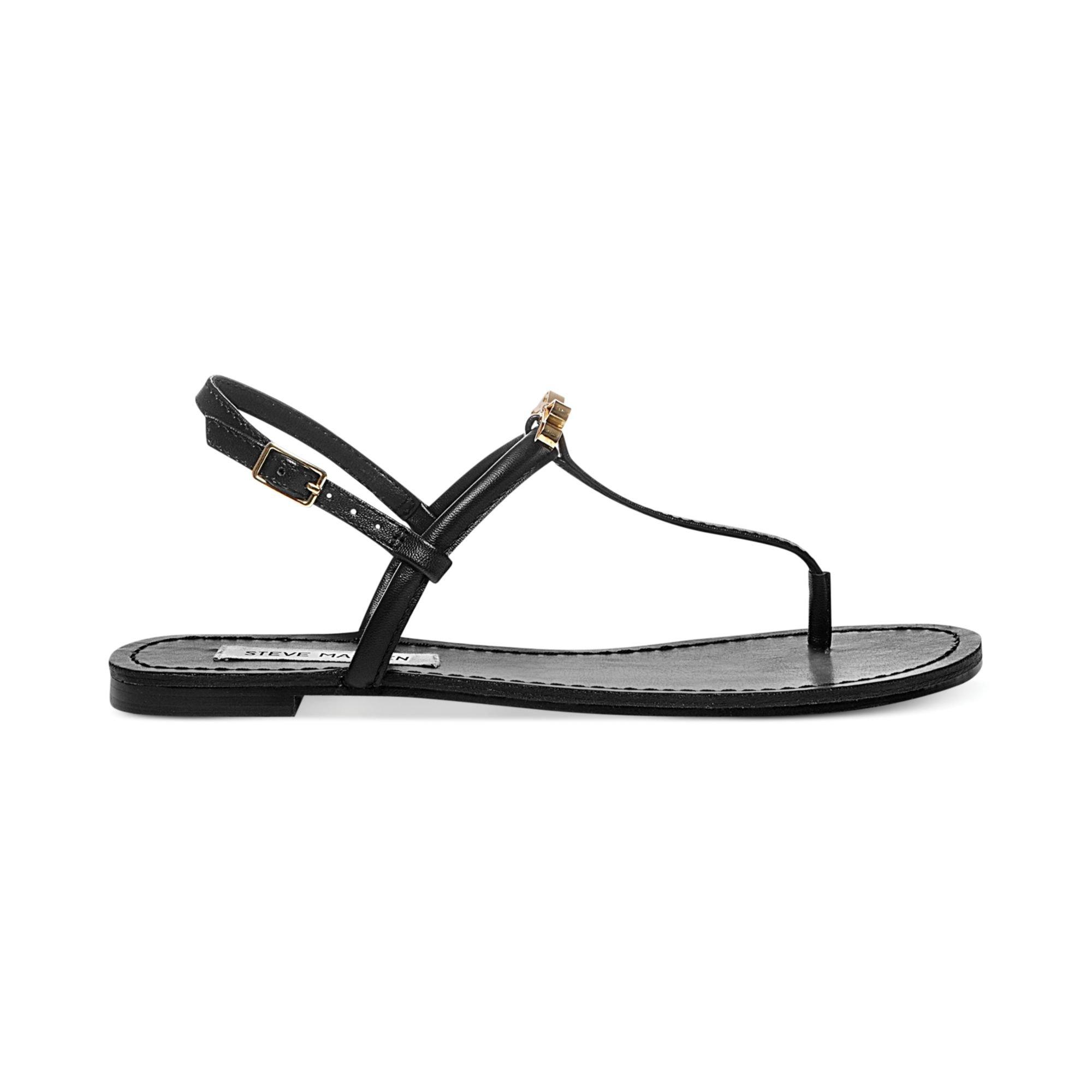 07319336d77cc Lyst - Steve Madden Womens Daisey Flat Thong Sandals in Black