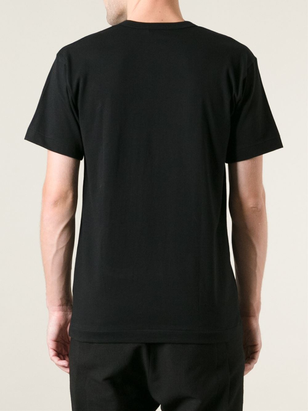 lyst comme des gar ons cut out detail t shirt in black for men. Black Bedroom Furniture Sets. Home Design Ideas