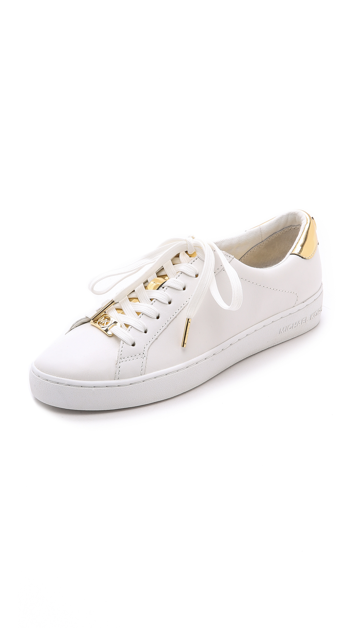 048253baed773 Lyst - MICHAEL Michael Kors Irving Lace Up Sneakers - Optic Pale ...