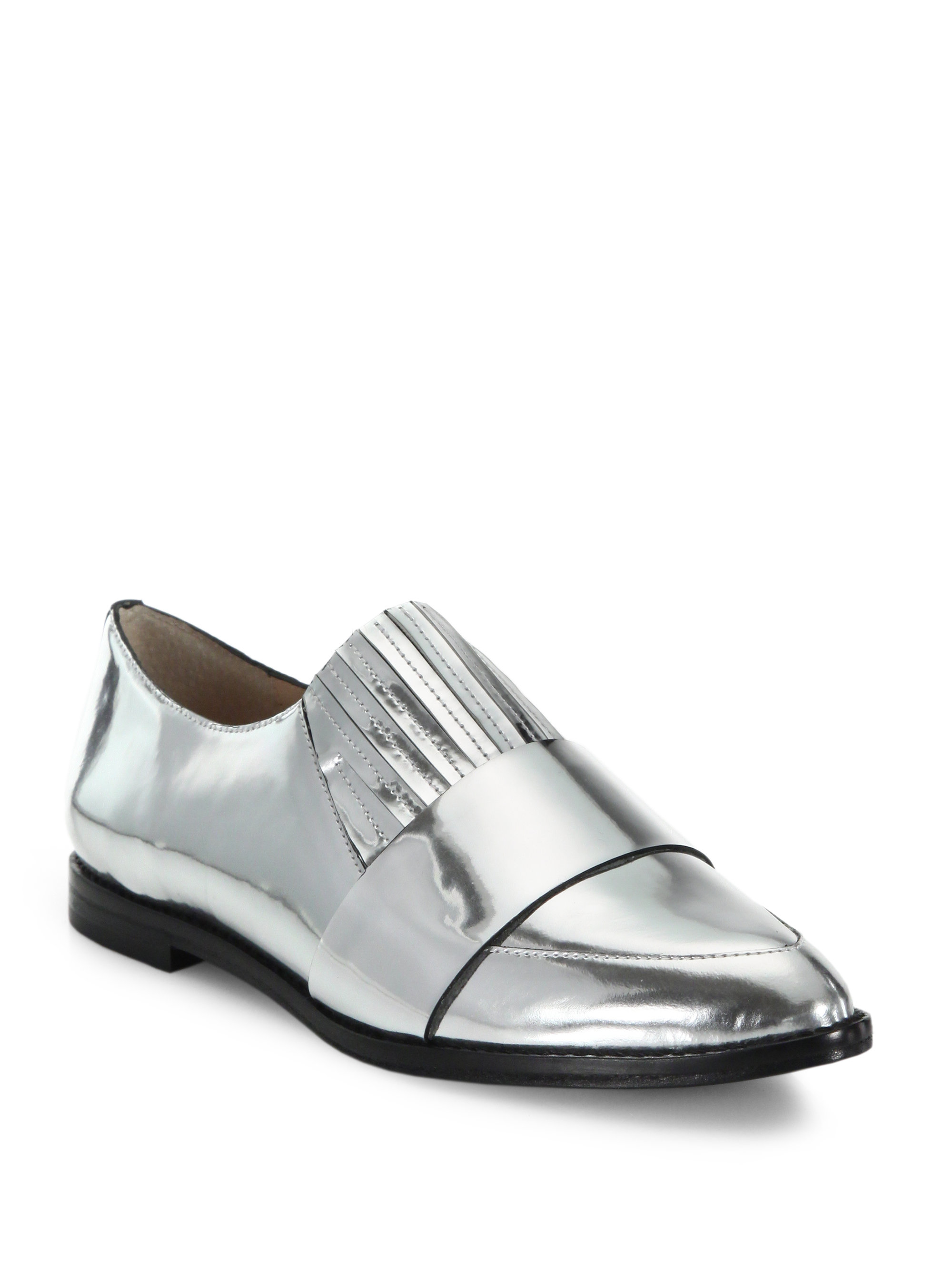 83b66bfacb2 Lyst - Loeffler Randall Rosa Point-toe Slip-on Shoes in Metallic