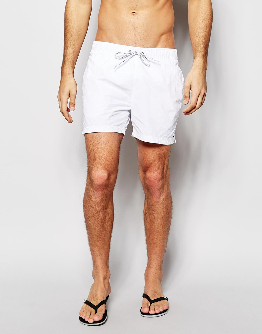d7b1a65e142c8c Lyst - Tommy Hilfiger Flag Swim Shorts in White for Men