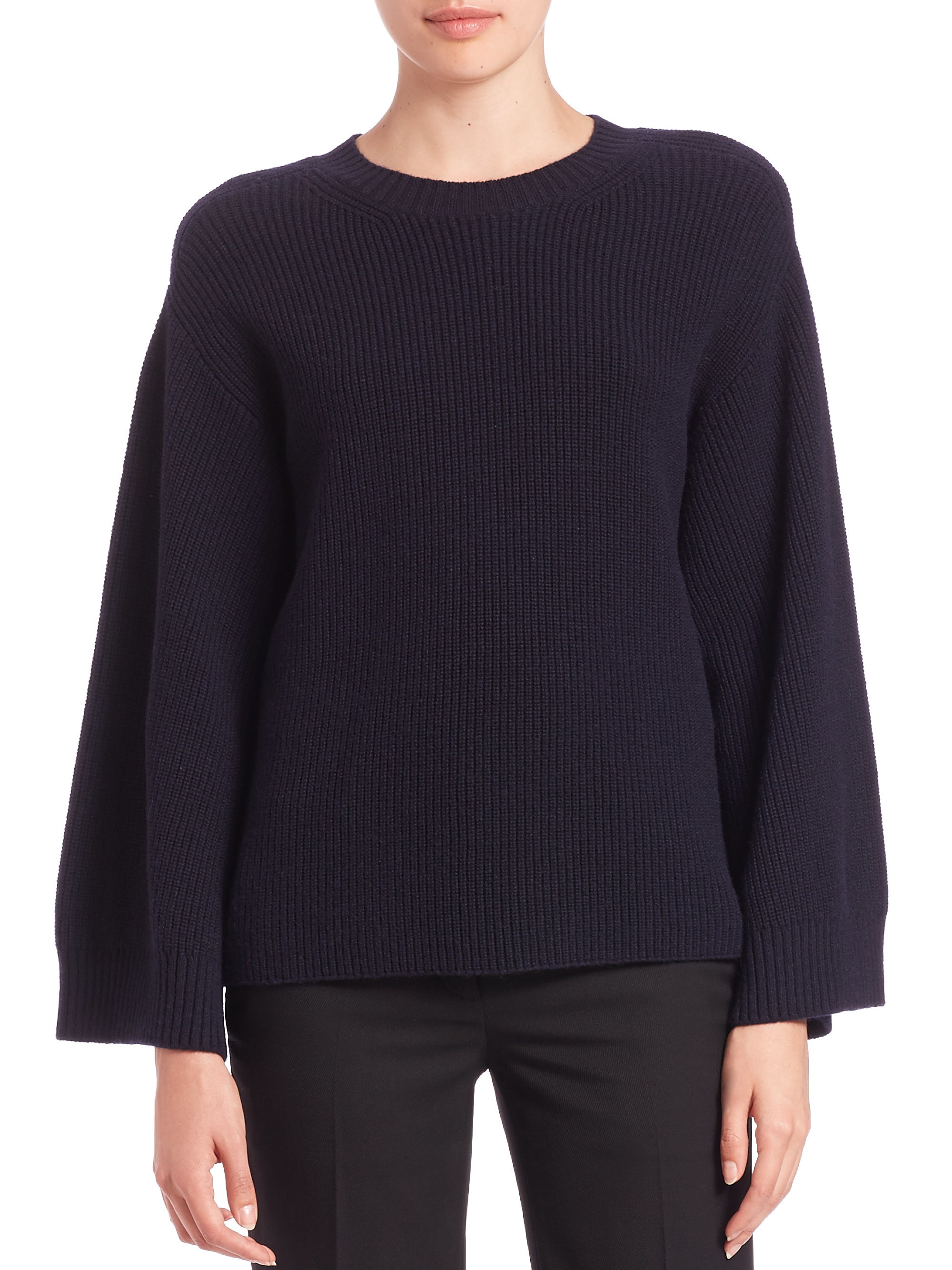 Helmut lang Wool & Cashmere Pullover Sweater in Blue | Lyst