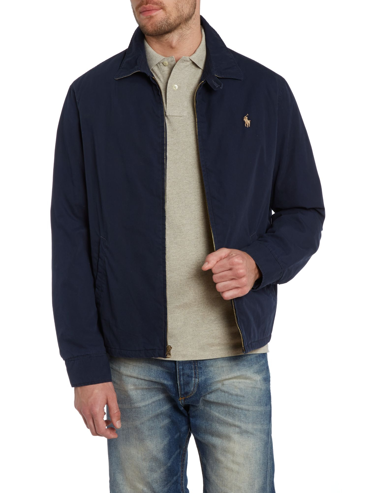 polo ralph lauren landon windbreaker in blue for men lyst. Black Bedroom Furniture Sets. Home Design Ideas
