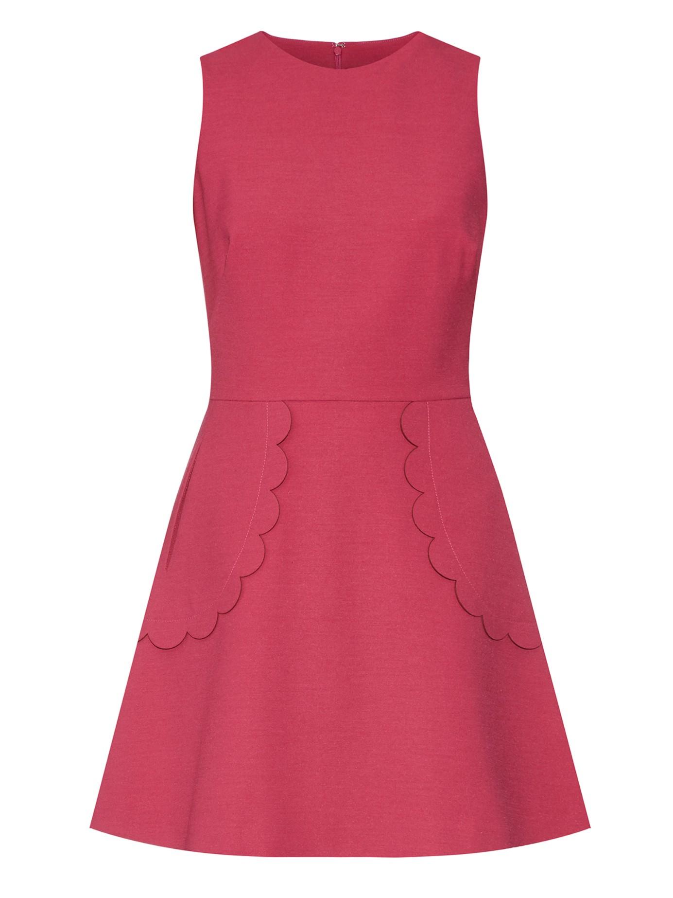 Polka-dot scallop-edged cotton dress Red Valentino vaRuL
