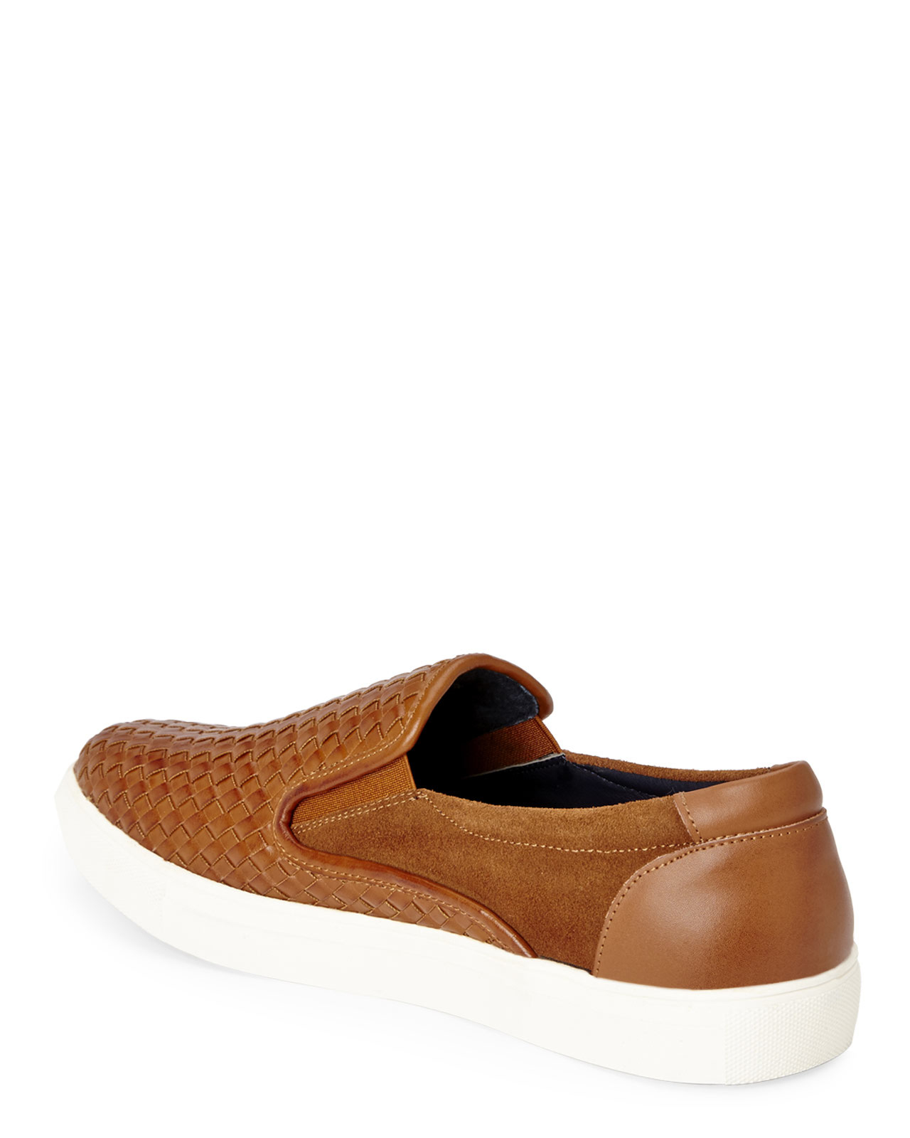 joseph abboud cognac jonah slip on sneakers in brown for