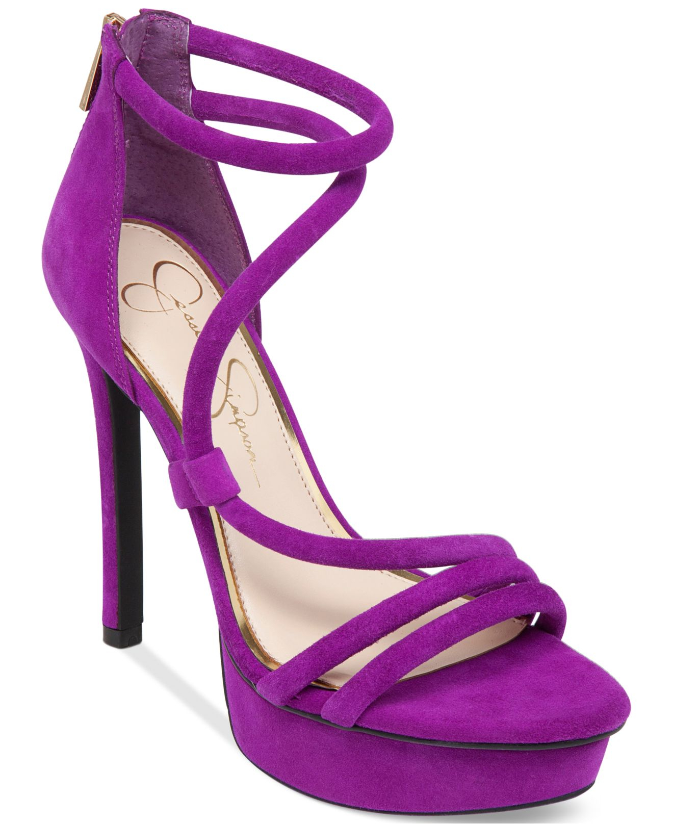 Jessica simpson Caela Asymmetrical Platform Dress Sandals in ...