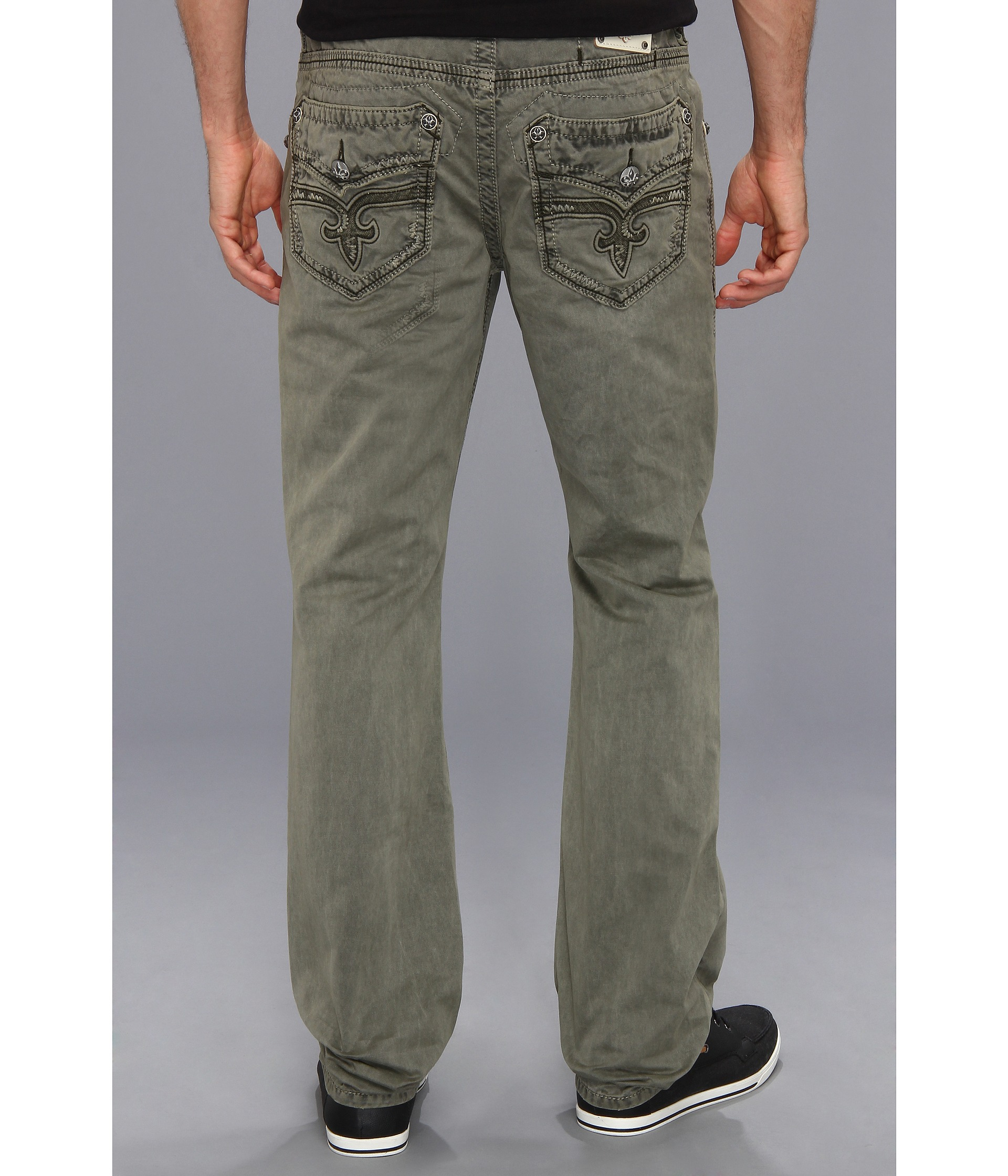 Rock revival Olive Twill Pant in Green for Men | Lyst