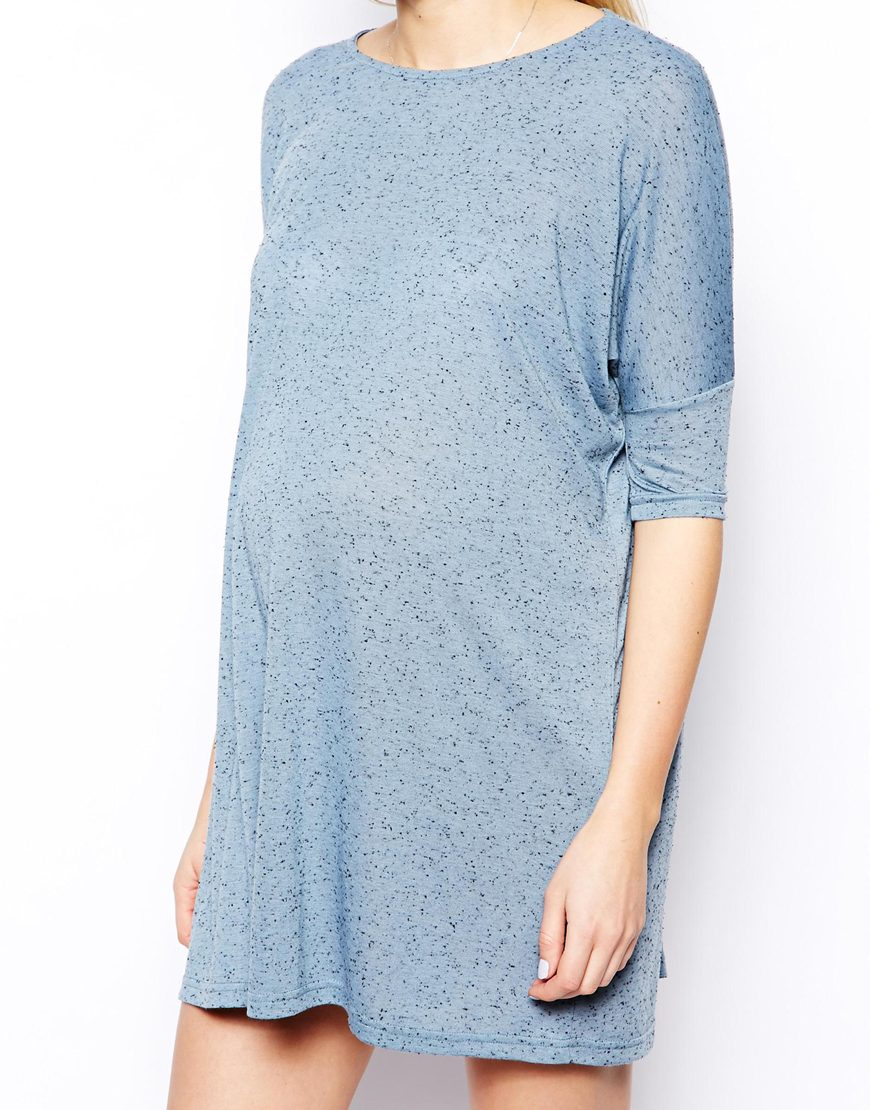 Asos Tshirt Dress In Denim Neppi In Blue Lyst