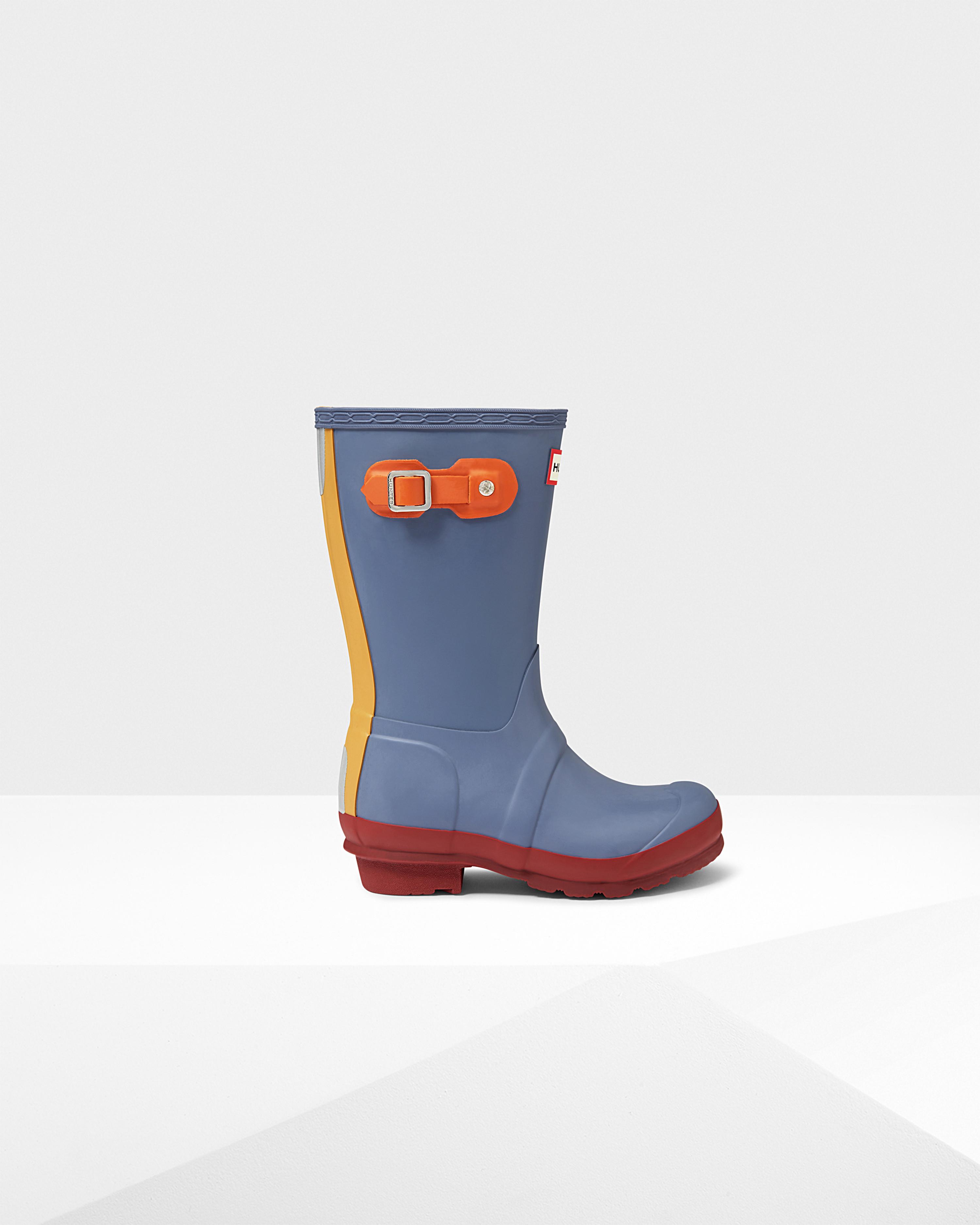 Lyst - Hunter Original Kids Contrast Sole Rain Boots In Blue