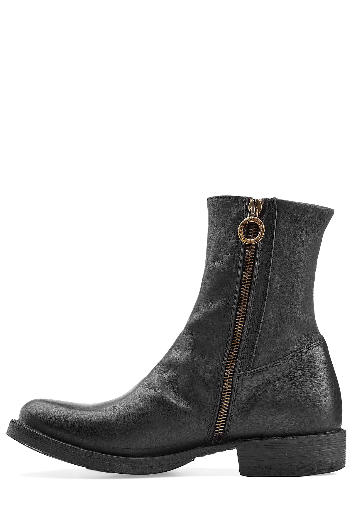 fiorentini baker eternity ebe leather ankle boots black in black lyst. Black Bedroom Furniture Sets. Home Design Ideas