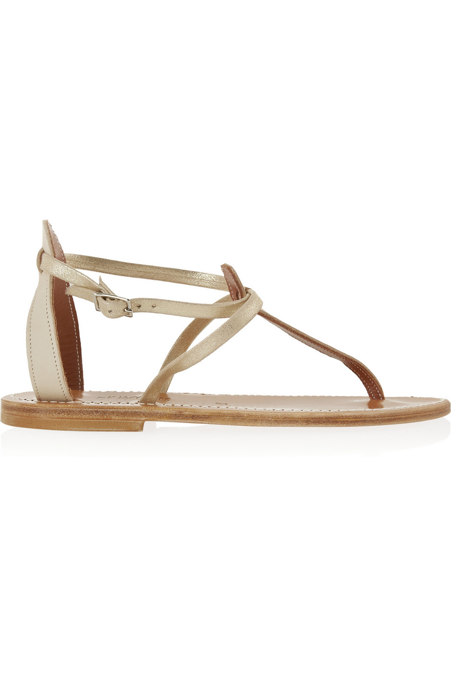 963c3a8494c4 Lyst - K. Jacques Buffon Tbar Leather Sandals in Natural