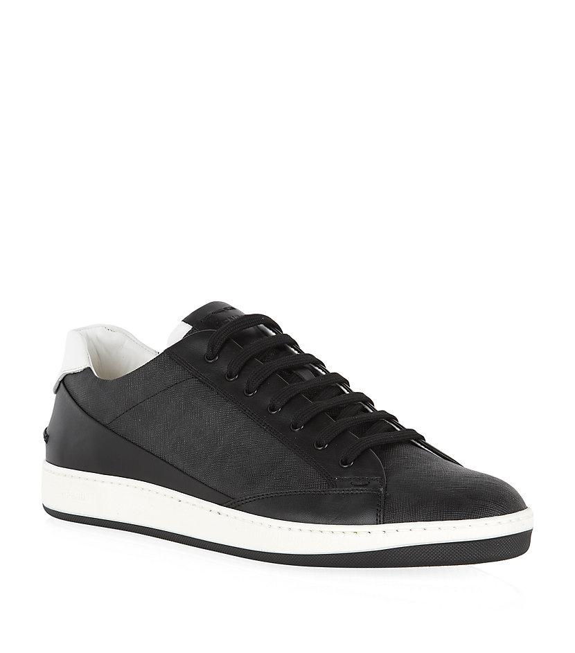 fendi wimbledon tennis sneaker in black for lyst