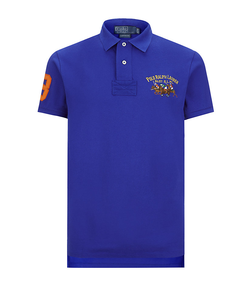 Polo ralph lauren triple pony custom fit polo shirt in for Polo ralph lauren custom fit polo shirt