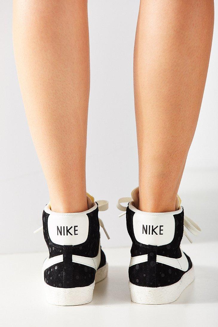 Lyst - Nike Women s Blazer Mid Suede Vintage Sneaker in Black 7cf34485b