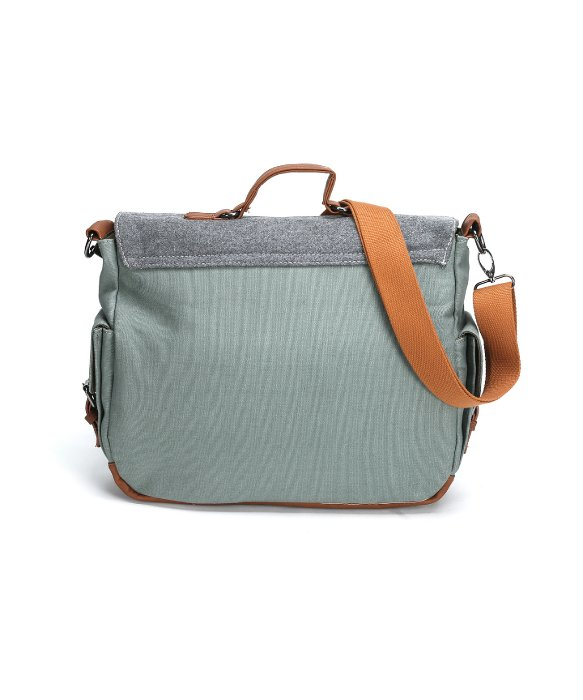 Something strong Tri-color Messenger Bag With Laptop Compartment ...