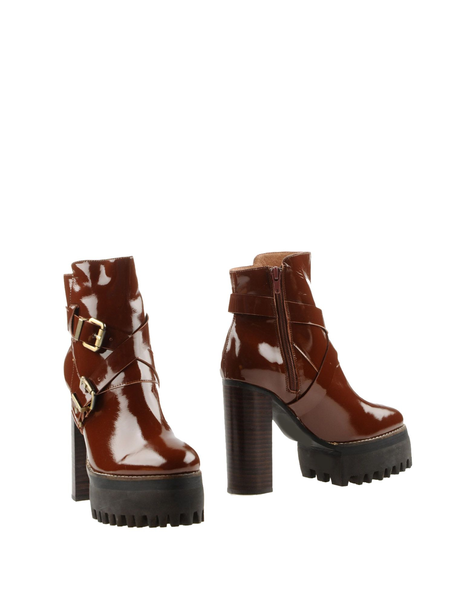 jeffrey cbell ankle boots in brown lyst