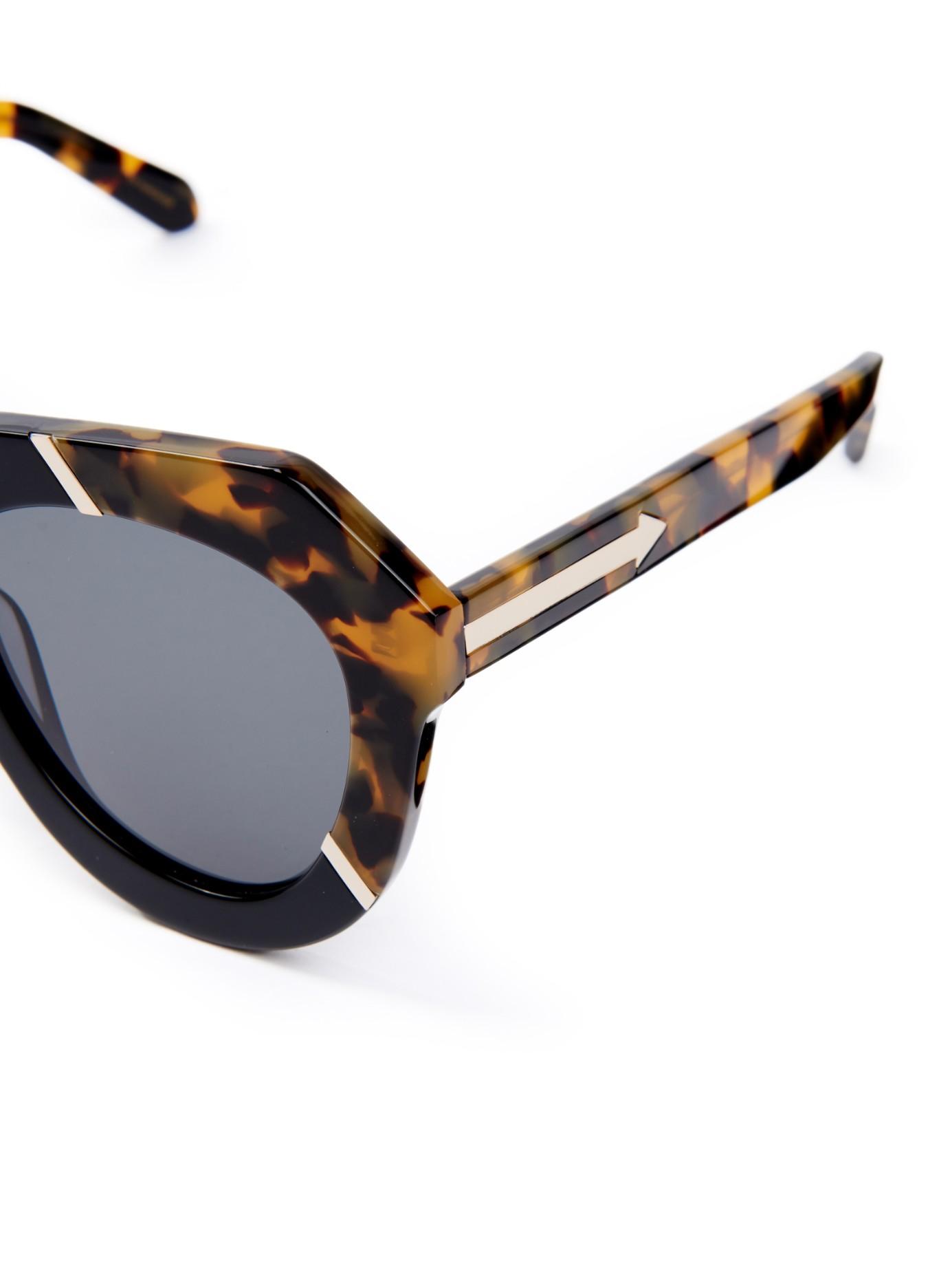 27f8c22741b Karen Walker One Splash Sunglasses in Brown - Lyst
