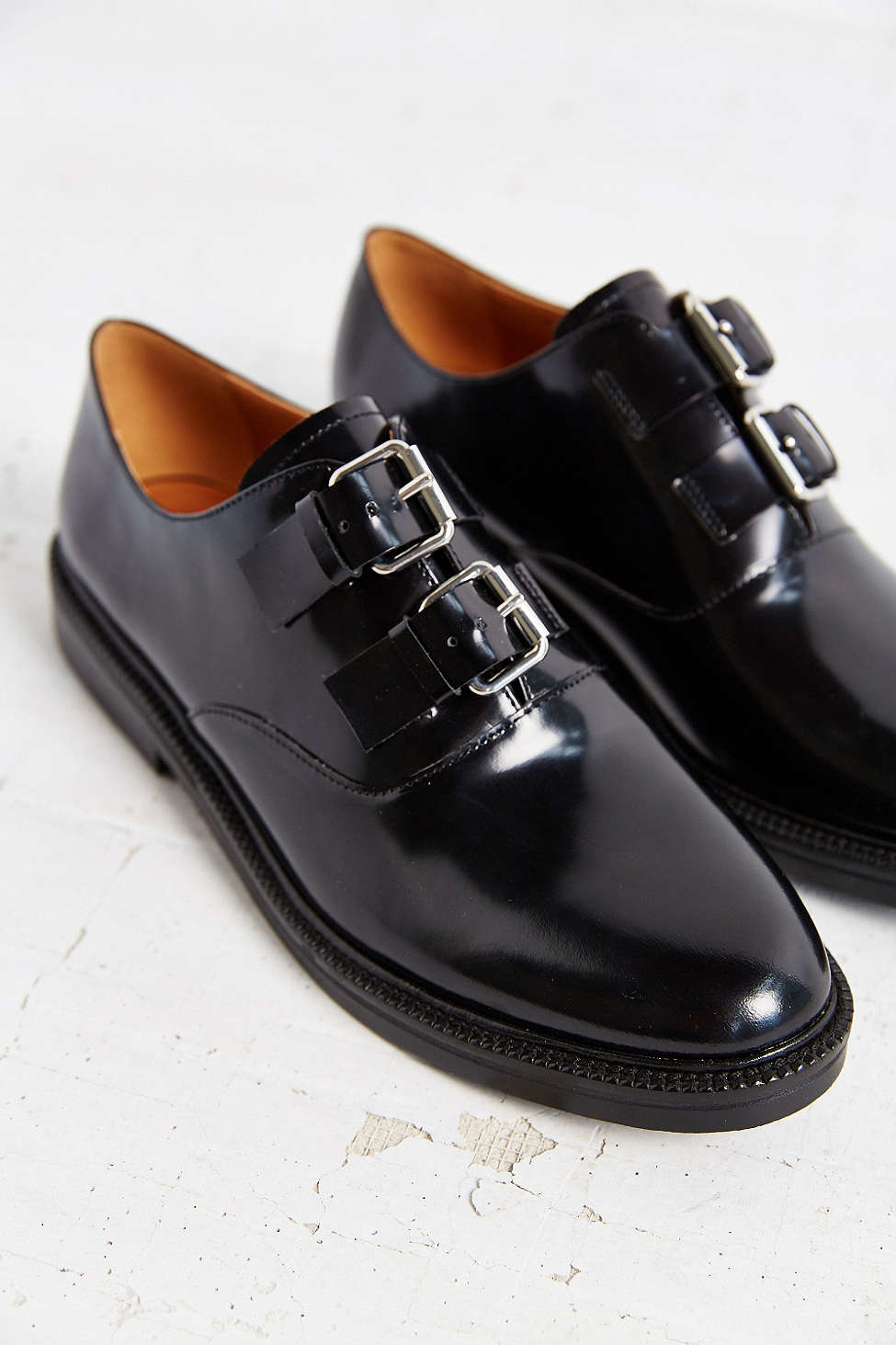 Lyst Urban Outfitters Aster Double Buckle Oxford In Black