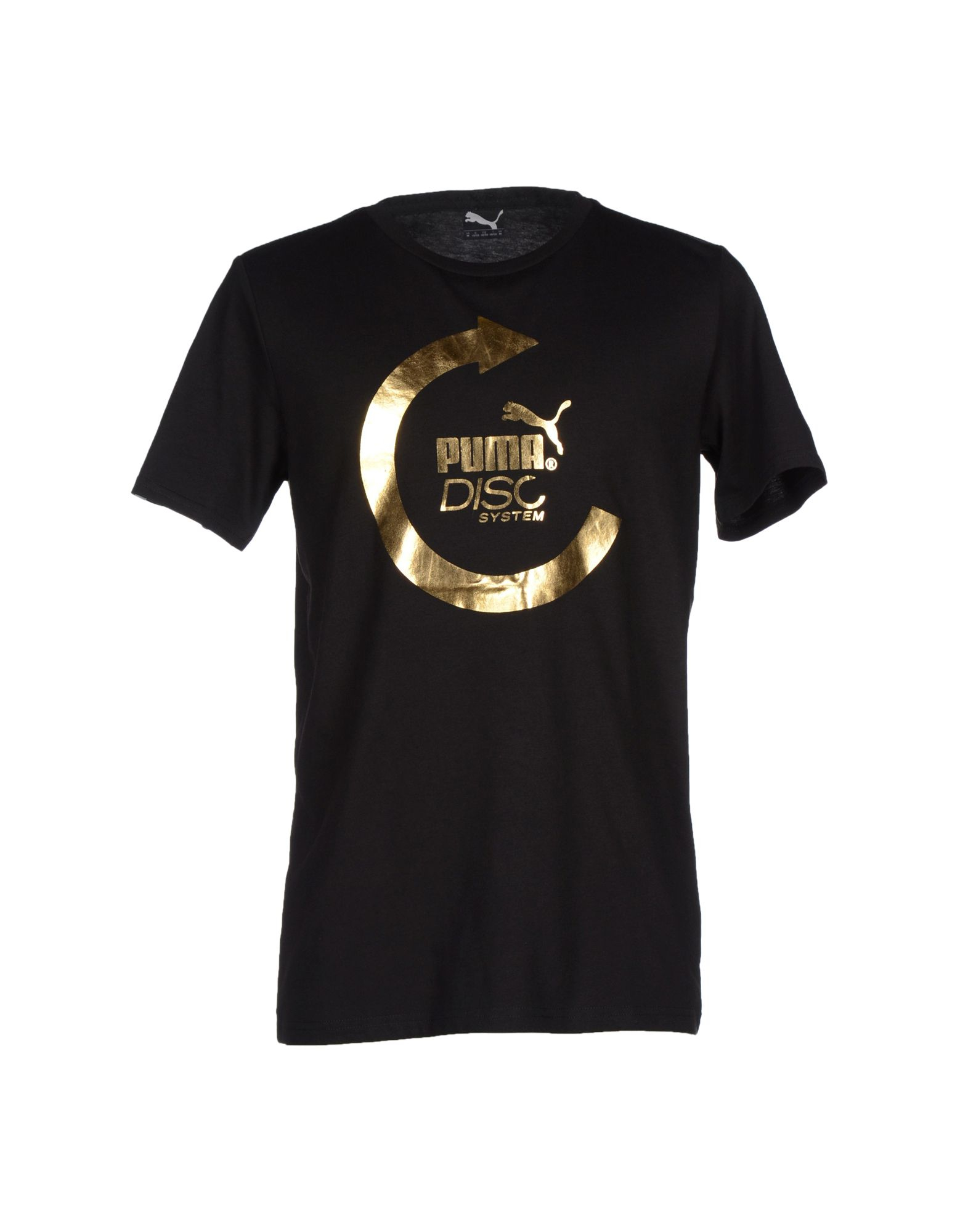 puma tshirt in black for men lyst