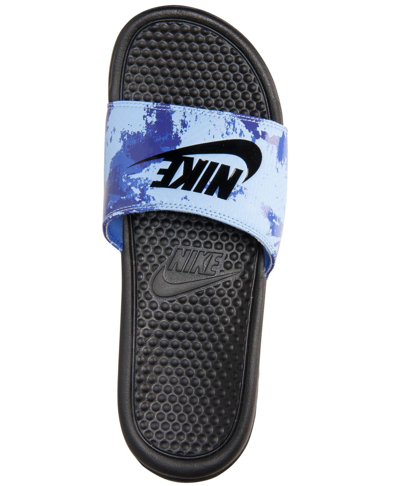 ea63852dad82 Lyst - Nike Men s Benassi Jdi Print Slide Sandals From Finish Line ...