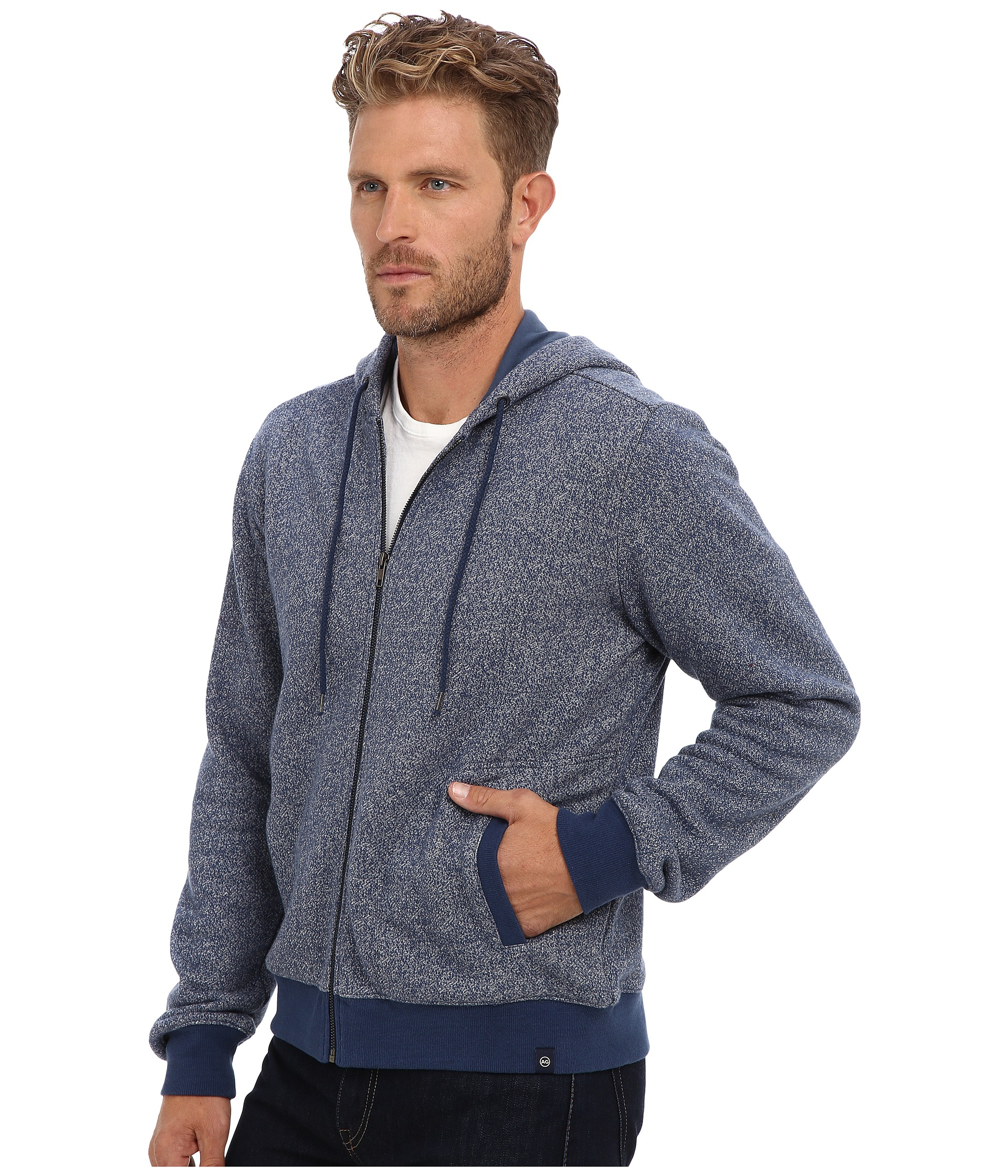 ag adriano goldschmied dive hoodie in blue for men dusk valley lyst. Black Bedroom Furniture Sets. Home Design Ideas