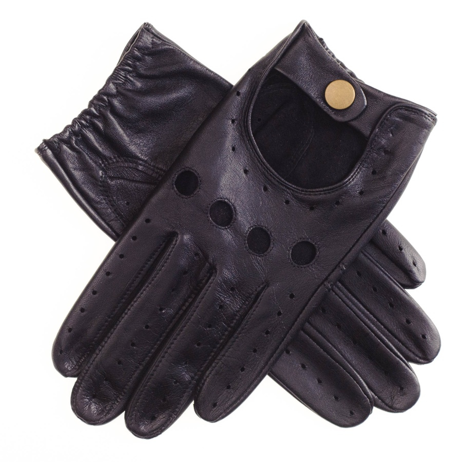 Tiger leather driving gloves - Featured