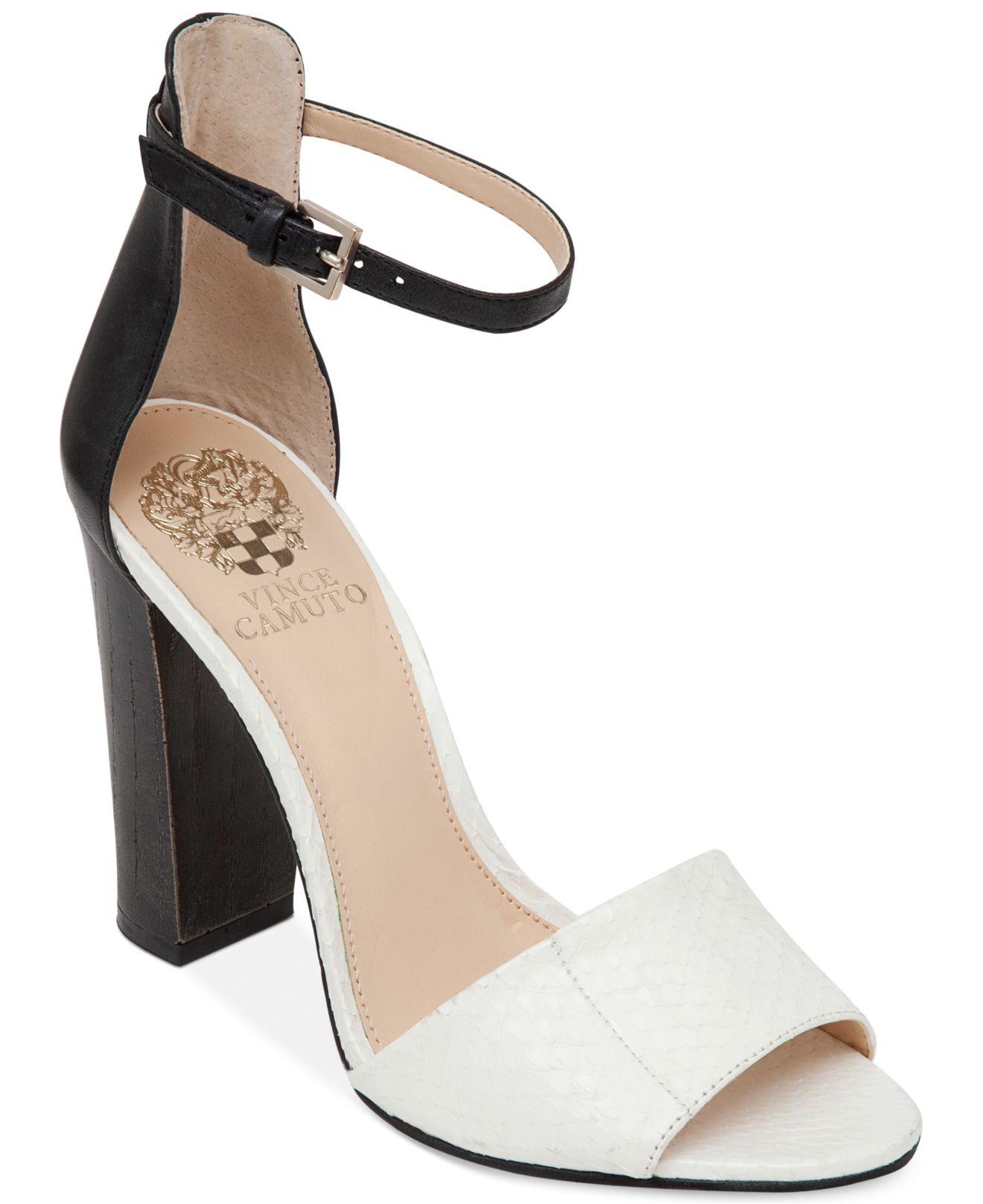5b57d5e19cd6 Lyst - Vince Camuto Velenza Block Heel Ankle Strap Dress Sandals in ...