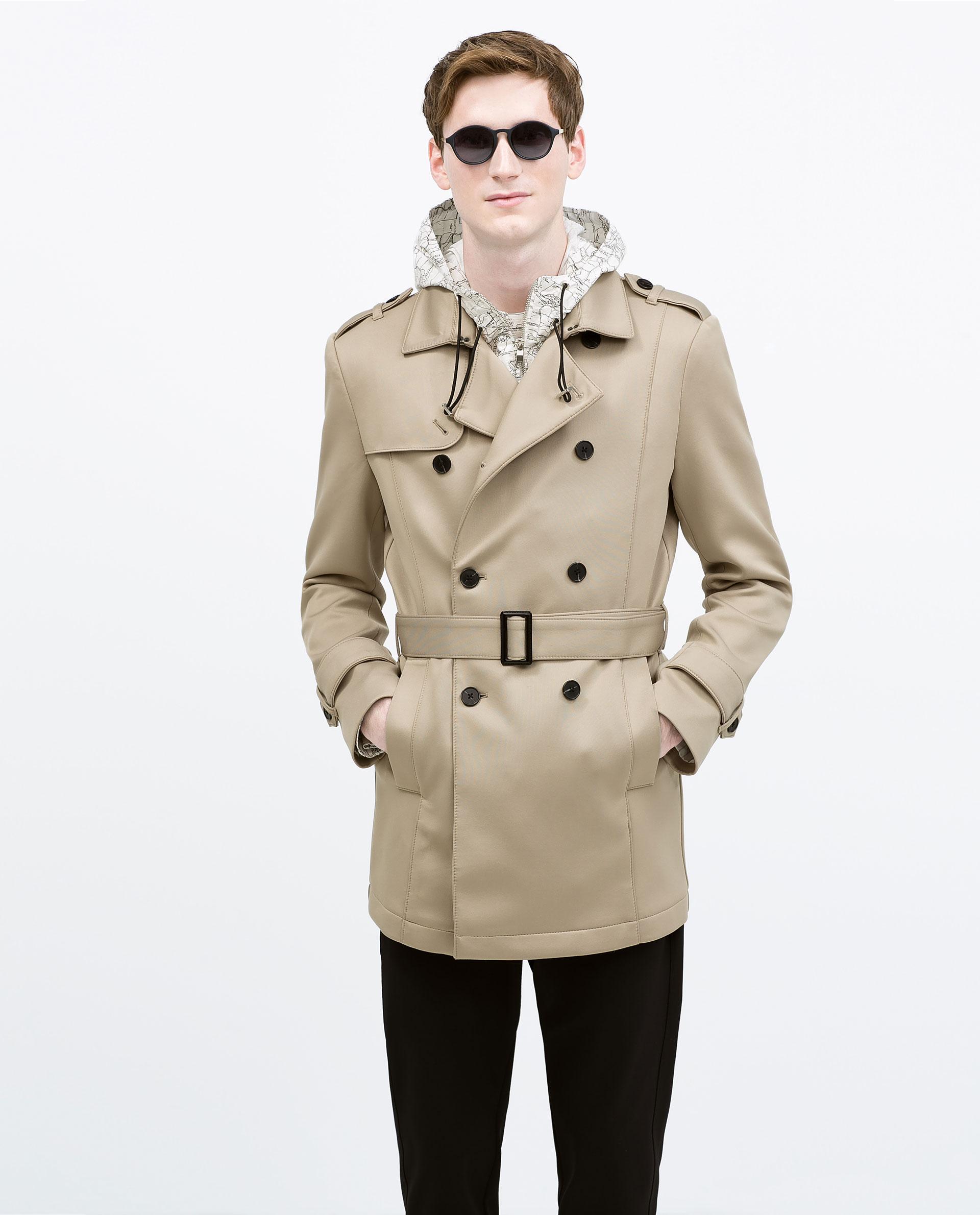Zara Short Trench Coat Mens - Tradingbasis