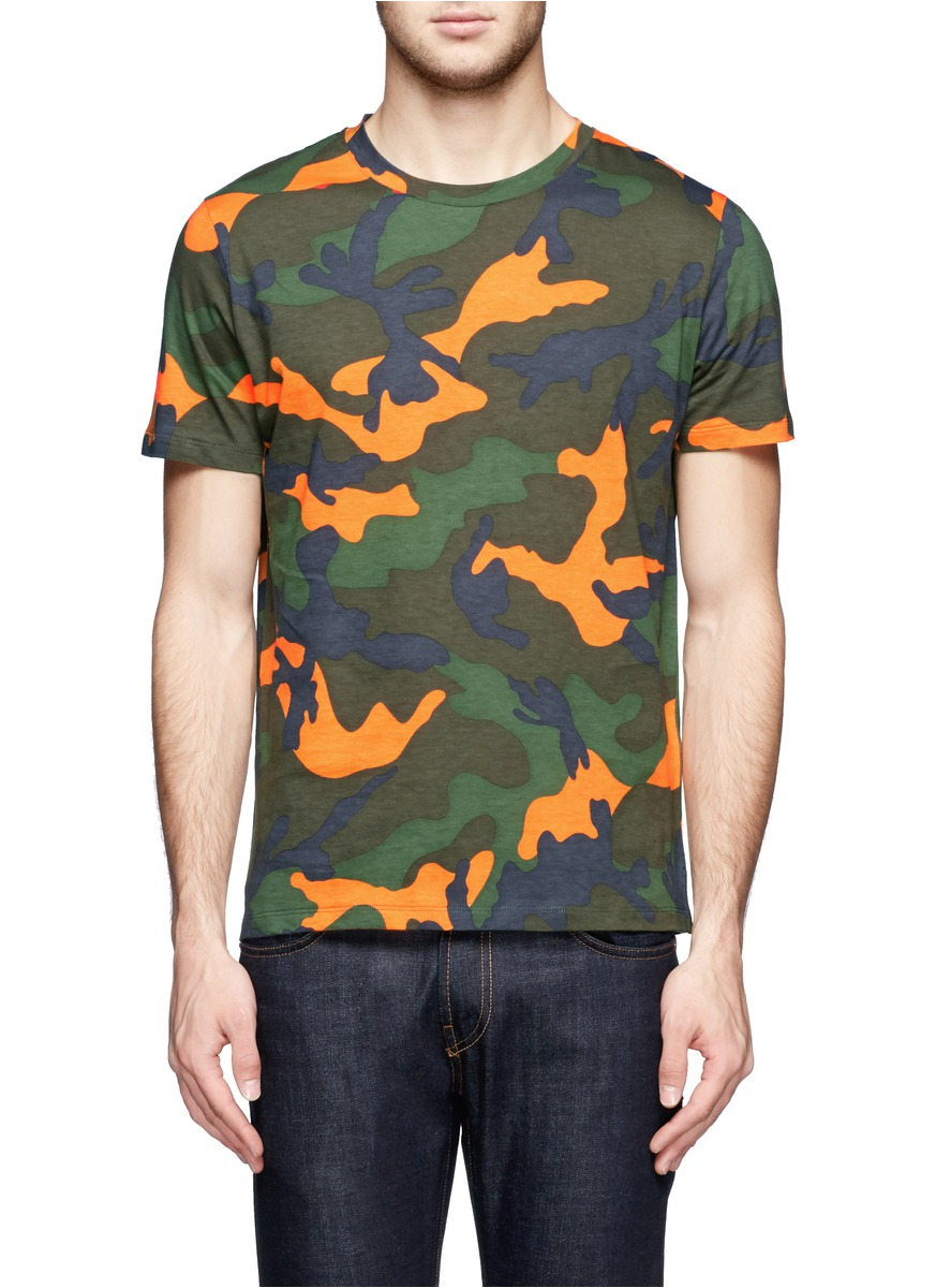 Valentino Camouflage Cotton T Shirt For Men Lyst