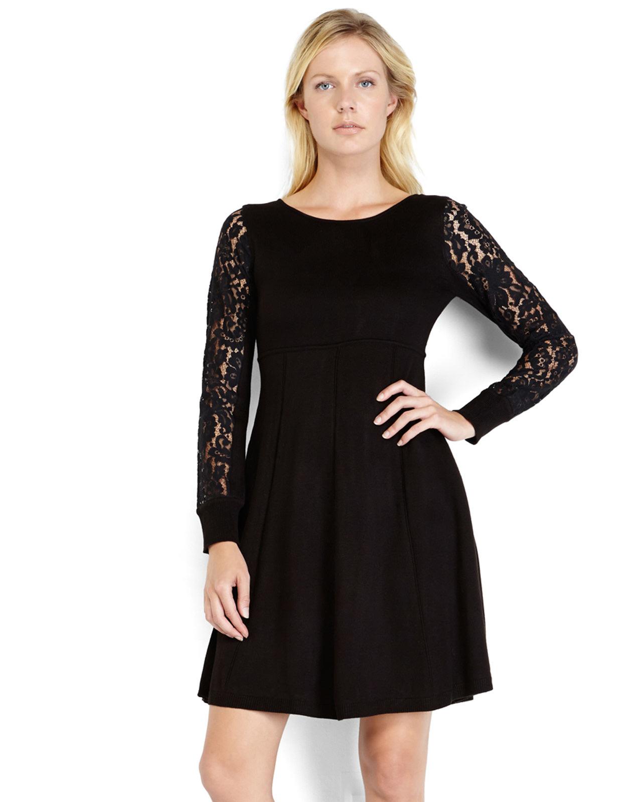 Empire Waist Black Dress - Qi Dress