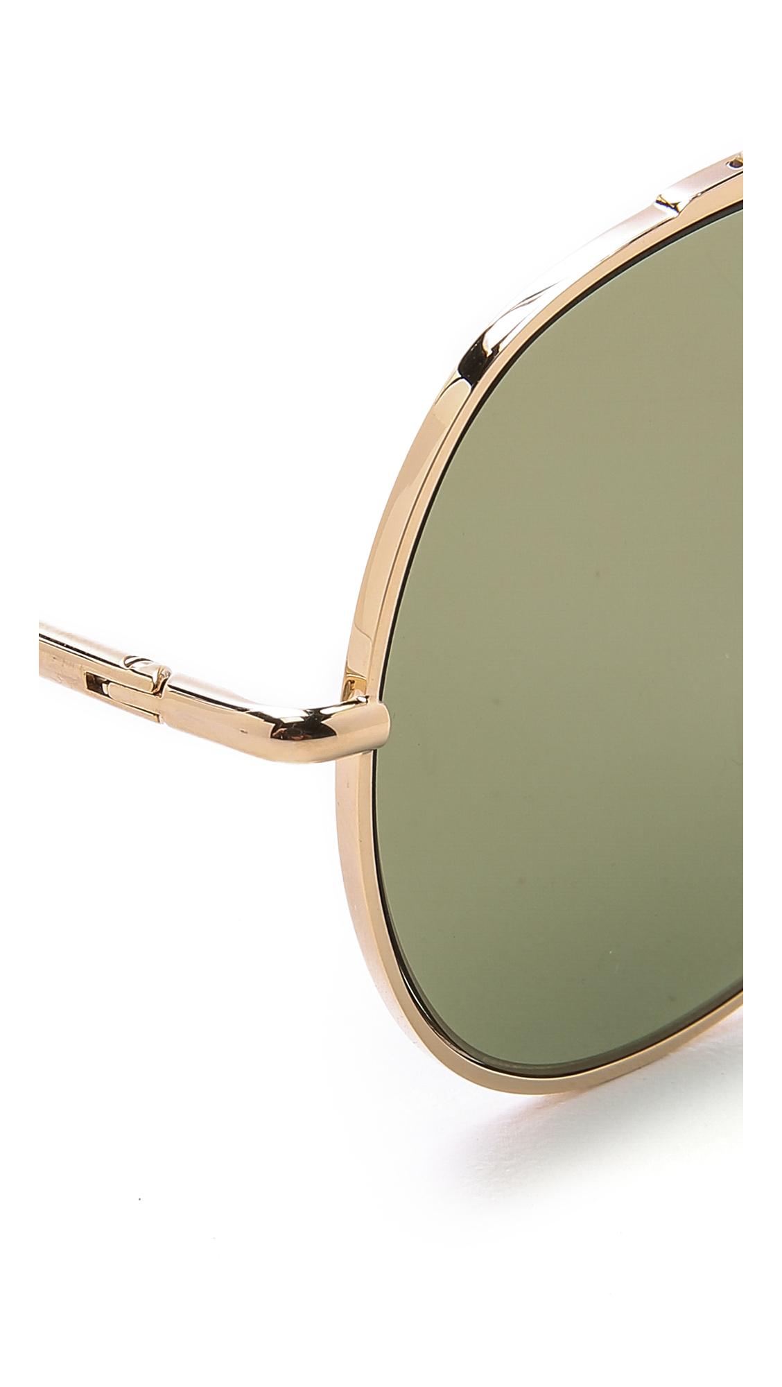 Large Gold Aviator Sunglasses