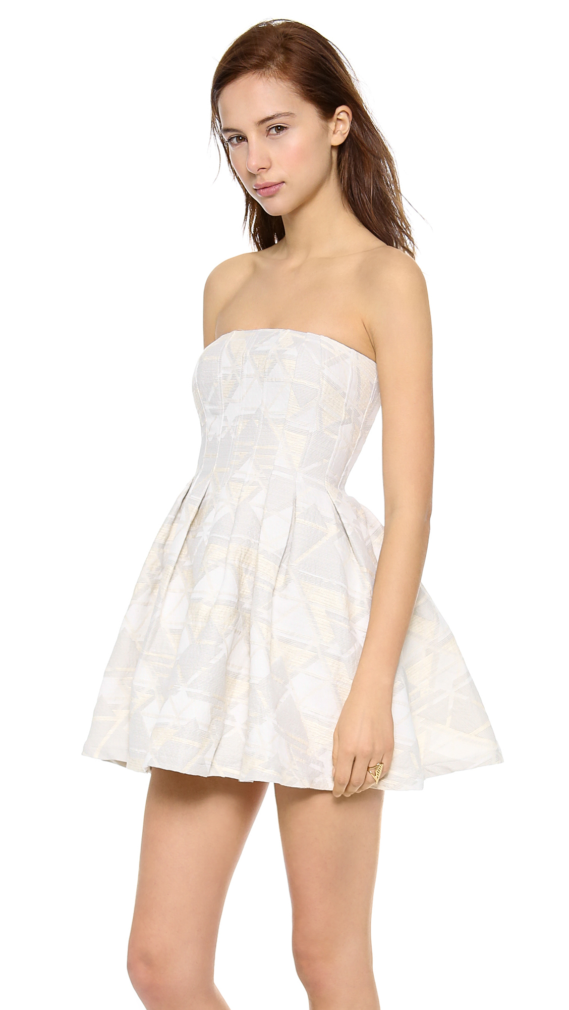 Strapless Terry Cloth Dress