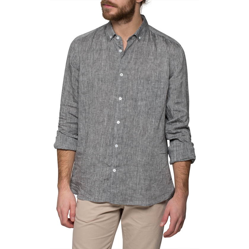Ymc Black Linen Shirt in Black for Men | Lyst