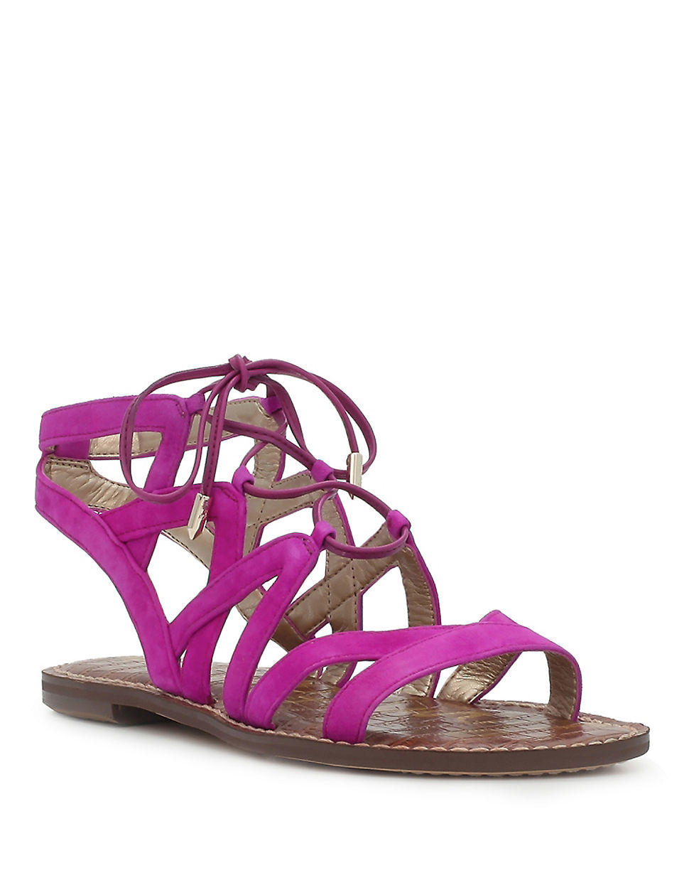 Lyst Sam Edelman Gemma Suede Gladiator Sandals In Purple