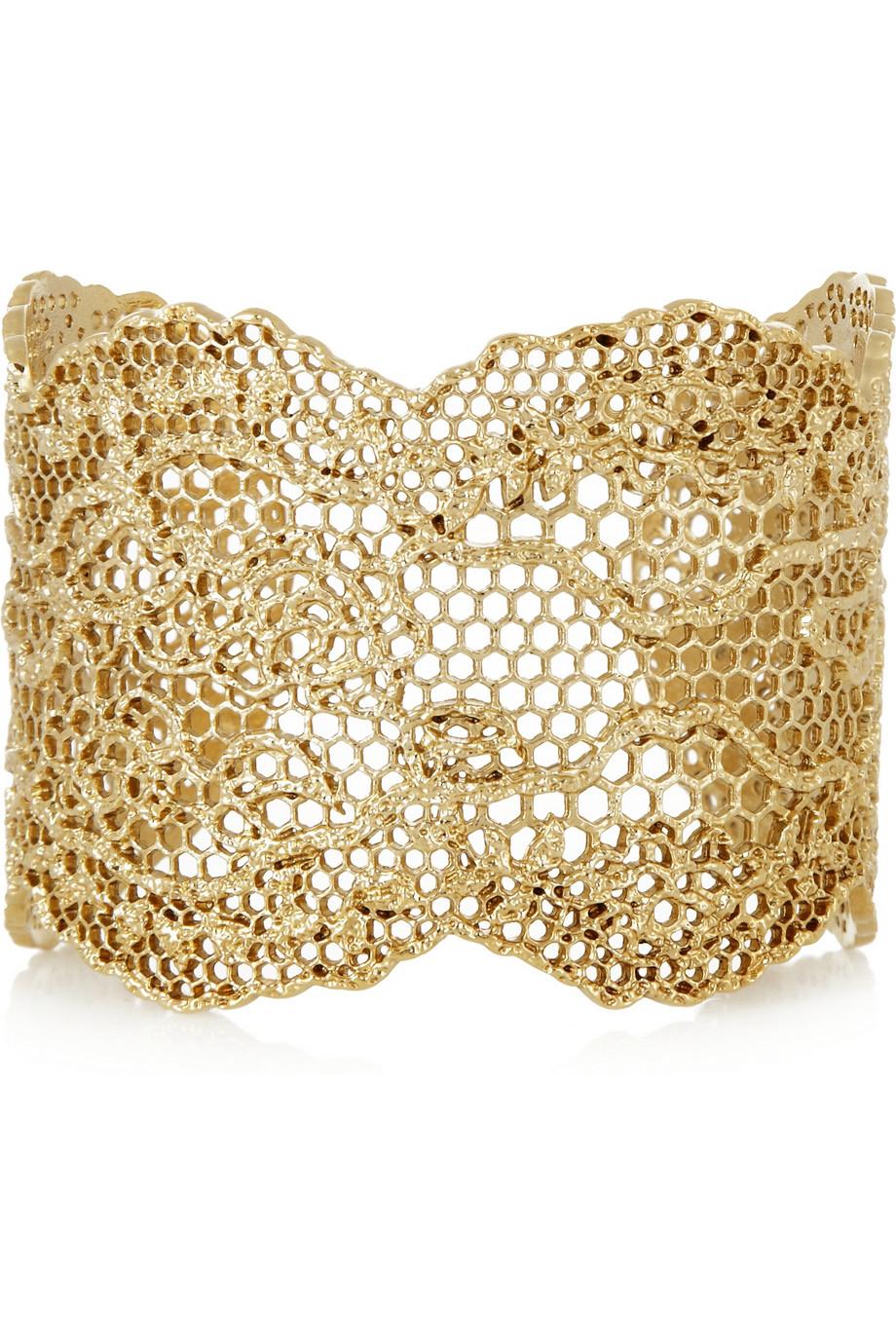Vintage Lace Bracelet in 18K Gold-Plated Brass Aur BWV1Uz