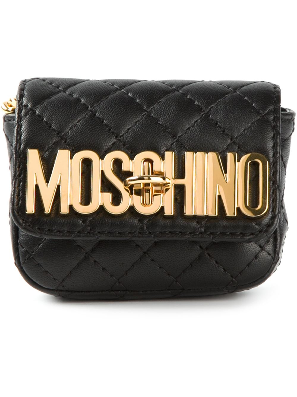 Moschino Mini Quilted Cross Body Bag In Black Lyst