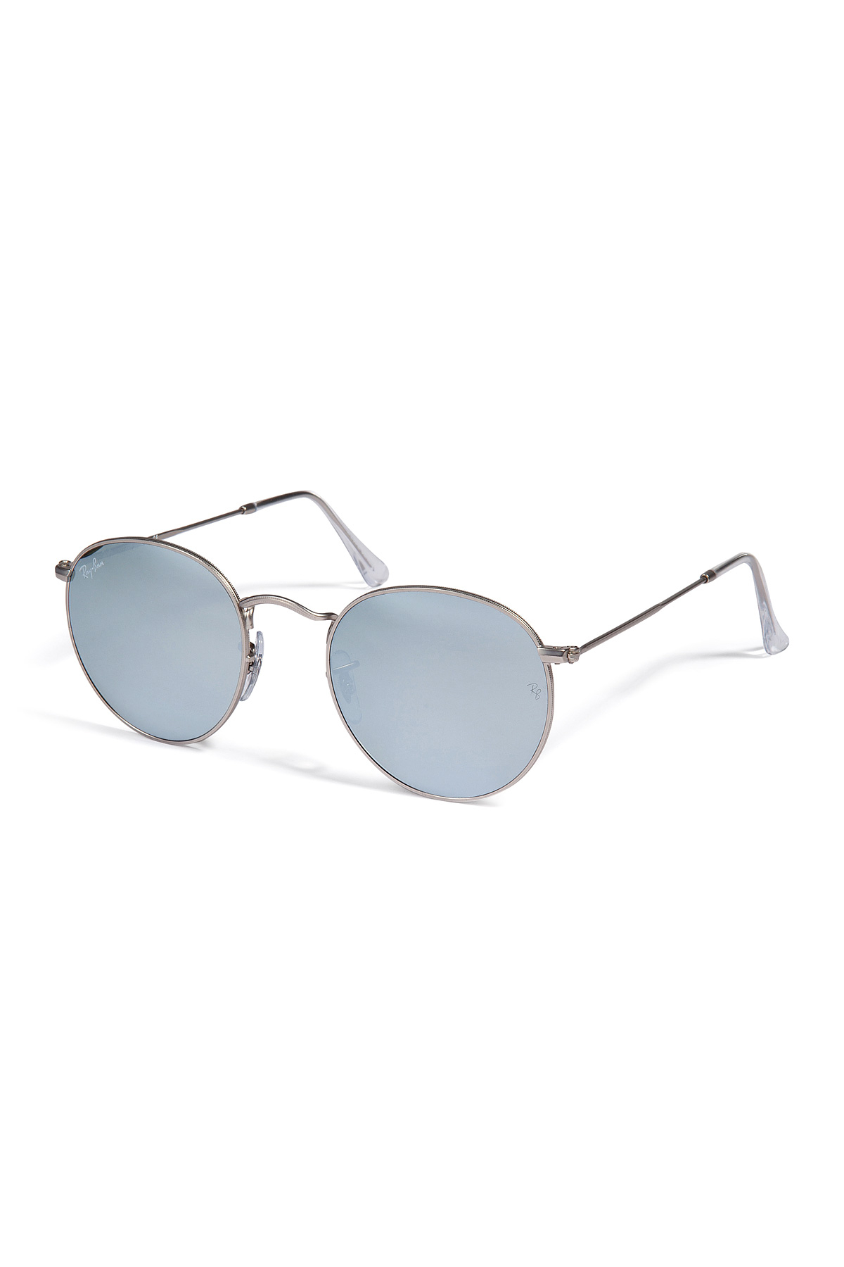 19a385f313b norway ray ban metal round flash lenses in silver in metallic for men lyst  6d8a2 78a04